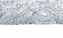 Aluminum foil isolated on white Royalty Free Stock Photos