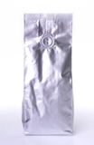 Aluminum foil package. Isolates on white background Stock Image