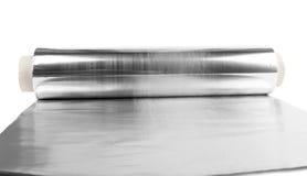 Aluminum folie Arkivfoto