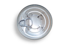 Aluminum food can viewed from above with soft shadow Stock Images