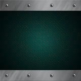 Aluminum frame bolted to a blue carbon fiber Royalty Free Stock Images