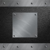 Aluminum frame bolted to a carbon fiber Royalty Free Stock Image