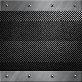 Aluminum frame bolted to a carbon fiber. Brushed aluminum frame bolted to a carbon fiber background Stock Image
