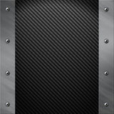 Aluminum frame bolted to a grey carbon fiber Royalty Free Stock Images