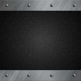 Aluminum frame bolted to a grey carbon fiber Stock Images