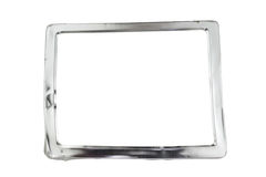 Aluminum frame isolated, with clipping path Stock Photo