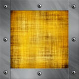 Aluminum frame and old parchment Royalty Free Stock Image