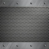 Aluminum frame and perforated metal Royalty Free Stock Image