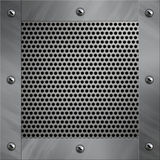 Aluminum frame and perforated metal Stock Photography