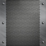Aluminum frame and perforated metal Royalty Free Stock Images