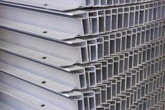 Aluminum frames. A pile of aluminum frames Stock Photos