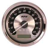 aluminum framsidaspeedometer Arkivbilder