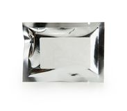 Aluminum fresh sealed pack Royalty Free Stock Images