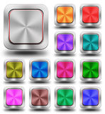 Aluminum glossy icon, button. Sign, crazy colors Stock Illustration