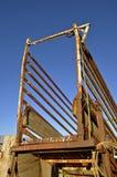 Metal cattle chute Stock Image