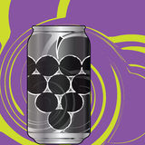 Aluminum Grape Soda packaging Royalty Free Stock Photography