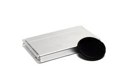 Aluminum gray case Royalty Free Stock Photography