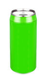 Aluminum green soda can Stock Images