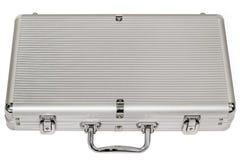 Aluminum Hard Suitcase Isolated On White Background Stock Photos