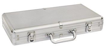 Aluminum Hard Suitcase Isolated On White Background Royalty Free Stock Images