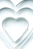 Aluminum heart forms Stock Image