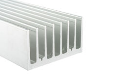 Aluminum heat sink Stock Photo
