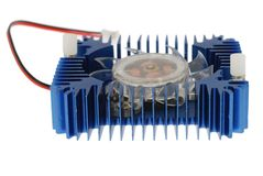 Aluminum heatsink Stock Photo