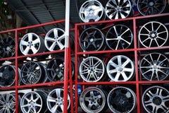 Aluminum hjulkant för bil Royaltyfria Bilder