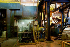 Aluminum hot mill Royalty Free Stock Images