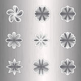 Aluminum icon colors on a silver background Royalty Free Stock Photography