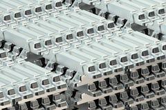Aluminum ingots stack Royalty Free Stock Images