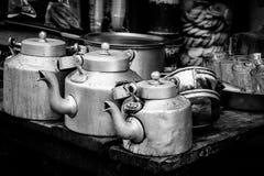 Aluminum kettle for Indian masala tea Stock Photography