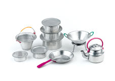 Aluminum kitchen toys Stock Images