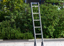 Aluminum ladder Stock Photo
