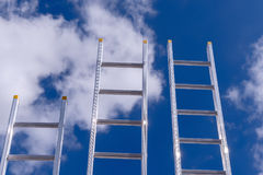 Aluminum ladders Royalty Free Stock Images