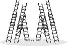 Aluminum ladders Royalty Free Stock Image