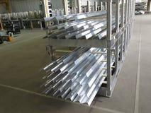 Aluminum lines stock rack Stock Photography