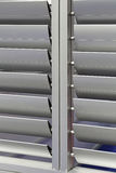 Aluminum Louver. With Rotatin Swivel Shutters at Modern Building Royalty Free Stock Photography