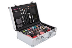 Aluminum make up case Stock Photo