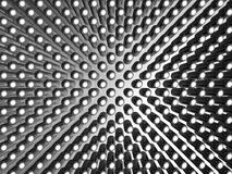 Aluminum material pattern background Stock Photography