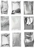 Aluminum metal bag Stock Photos