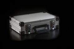 Aluminum metal case box Stock Photo