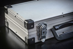 Aluminum metal case box Royalty Free Stock Photos