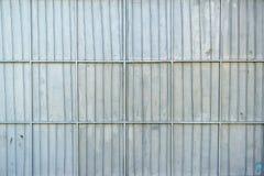 Aluminum metal platted garage wall Stock Photos