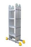 Aluminum metal step-ladder Royalty Free Stock Image