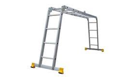 Aluminum metal step-ladder Stock Images
