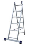 Aluminum metal step-ladder Stock Photos