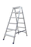 Aluminum metal step-ladder Royalty Free Stock Image