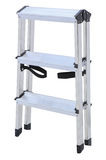 Aluminum metal step-ladder Stock Image