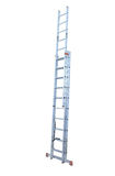 Aluminum metal step-ladder Stock Images